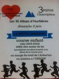 trail la petite arbarine Unicef Pays des Hurtières 2018